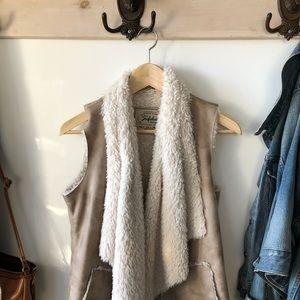 Women's boho shearling vest